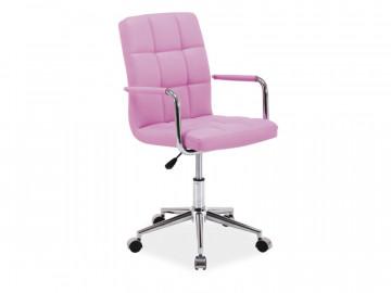 Scaun de birou din piele ecologica Q22 roz