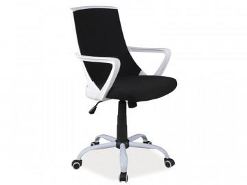Scaun de birou tapitat negru/alb