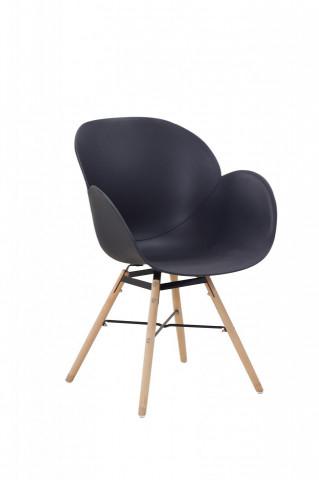 Set 2 scaune Amalia negre