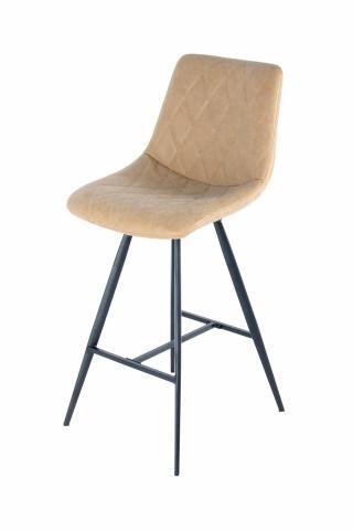 Set 2 scaune de bar tapitate Frances bej