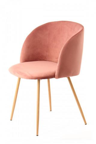 Set 2 scaune tapitate Celina roz