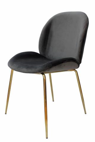 Set 2 scaune tapitate Charlize gri