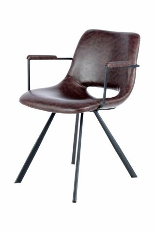 Set 2 scaune tapitate Josephine maro inchis