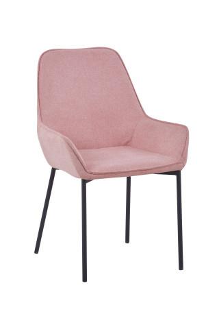 Set 2 scaune tapitate roz pal