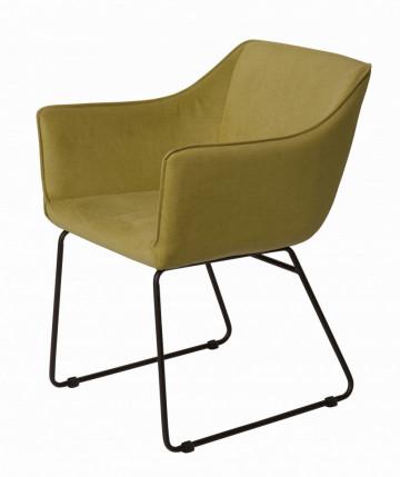 Set 2 scaune tapitate Sit&Chairs Tom Tailor verde deschis