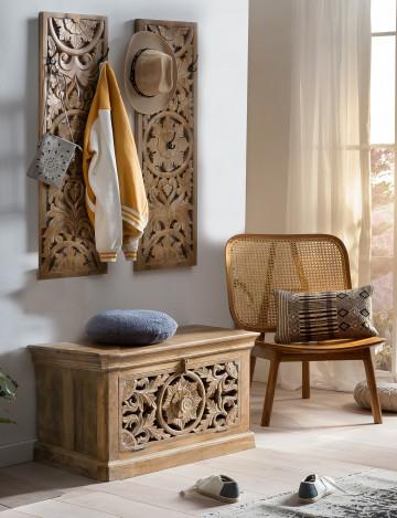 Set 3 piese mobilier pentru hol din lemn de mango Lakadee