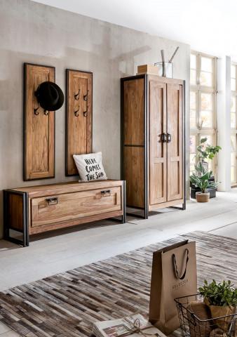 Set 4 piese mobilier pentru hol din lemn de salcam Panama