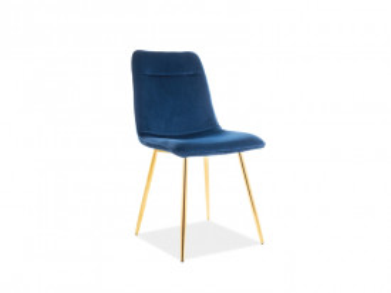 Set 4 scaune din catifea Eros albastru
