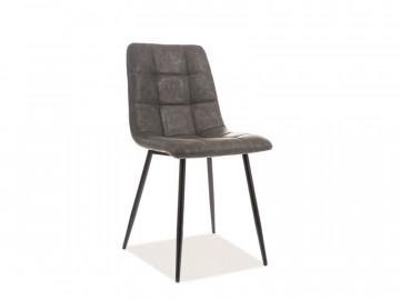 Set 4 scaune din piele ecologica gri