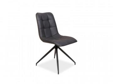 Set 4 scaune din piele ecologica Olaf gri