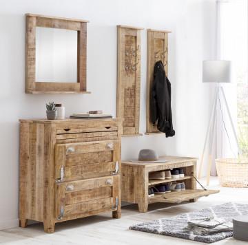 Set 5 piese mobilier pentru hol din lemn masiv Frigo