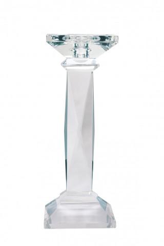 Suport lumanare din sticla de cristal Petunia II, transparent