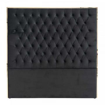 Tablie Pat Lowell 180x180 Black velvet / gold