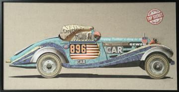 Tablou din hartie Race car I 82cm x 42cm