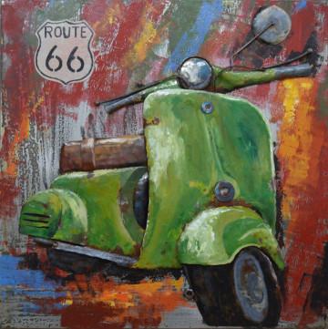 Tablou din metal Motorroller 80cm x 80cm