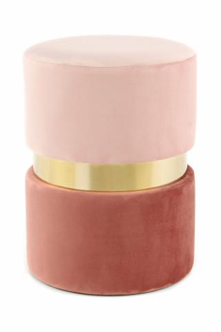 Taburet tapitat Gipsy roz/auriu