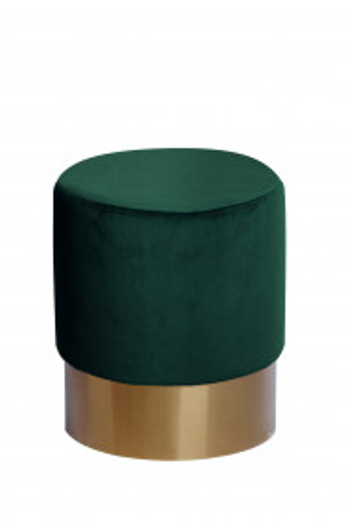 Taburet tapițat Nano verde inchis ignifug