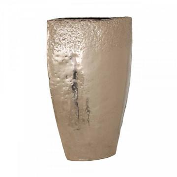 Vas decorativ din aluminiu Boley, champagne
