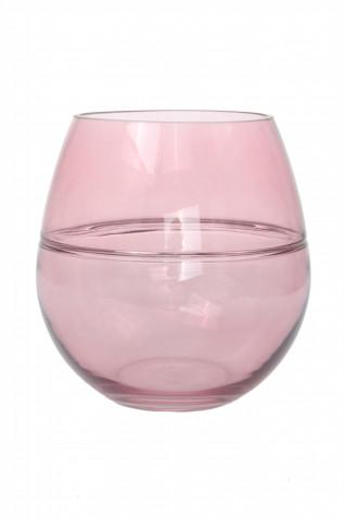 Vaza din sticlă Sidney, roz