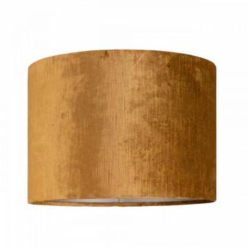 ABAJUR cilindric din polyester Goya auriu, diametru 30 cm