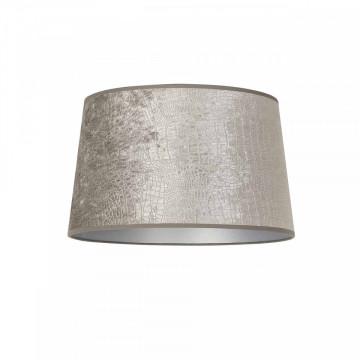 ABAJUR cilindric din polyester Marly argintiu, diametru 30 cm