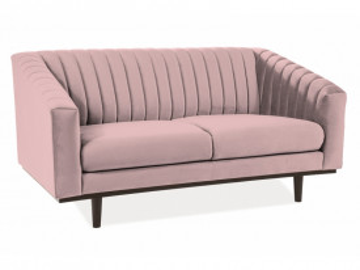 Canapea din catifea Asprey roz, 2 locuri