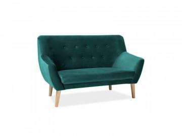 Canapea din catifea Nordic verde, 2 locuri