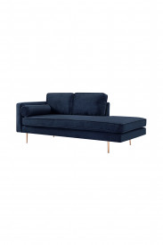 Canapea Estelle albastru, 3 locuri, pe stanga