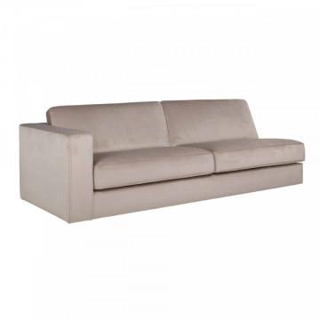 Canapea Fratelli roz, brat pe stanga, 2 locuri