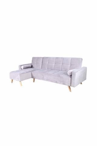 Canapea Maloni extensibila pe stânga, 3 locuri, gri deschis