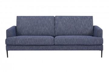Canapea tapitata albastru inchis, 3 locuri