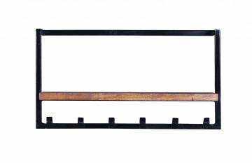 Cuier din lemn de mango si fier Panama 65 x 25 x 35 cm