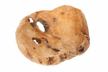 Decoratiune din lemn Crater, natural
