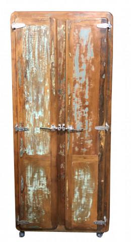 Dulap din lemn reciclat Fridge 80x180 cm