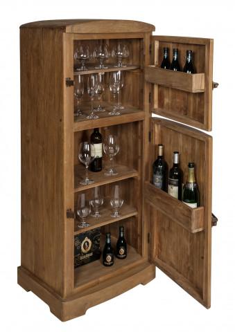 Dulapioare pentru vin din tec reciclat Romanteaka 60x50x154 cm