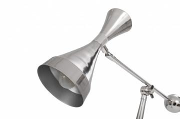 Lampa de birou din metal Cosima, argintie, un bec