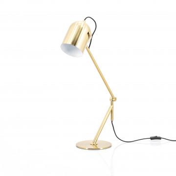 Lampa de birou Sleek aurie, un bec