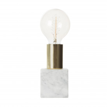 Lampa decorativa din marmura/fier Mr. Lightning gri, un bec