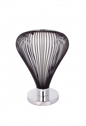 Lampa decorativa din metal Exota neagra, un bec
