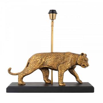 Lampa decorativa Pantera din aluminiu Selene aurie, un bec
