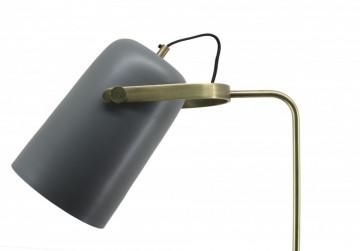 Lampadar din fier/cupru/aluminiu Caricia 135 cm Gri, un bec