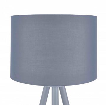 Lampadar din lemn/metal/tesatura THIS & THAT 154cm gri , un bec