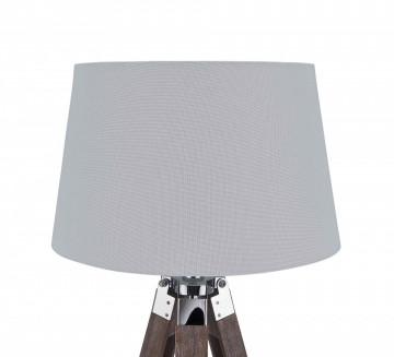 Lampadar din lemn/tesatura/metal THIS & THAT 143 cm alb, un bec