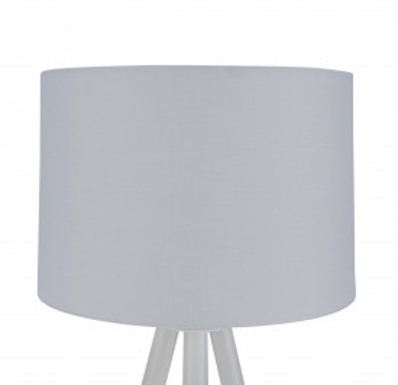 Lampadar din lemn/tesatura/metal THIS & THAT 154 cm alb, un bec