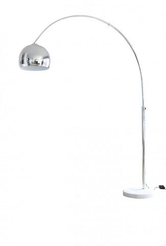 Lampadar din metal cromat/marmura THIS & THAT 208 cm argintiu, un bec
