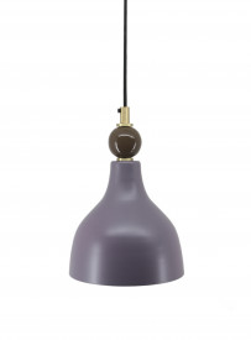 Lustra din fier/cupru/lemn Cally violet, un bec