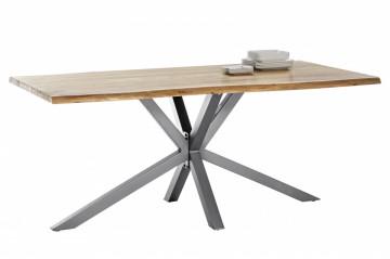 Masa dreptunghiulara cu blat din lemn de salcam Tables & Benches 200 x 100 x 78 cm