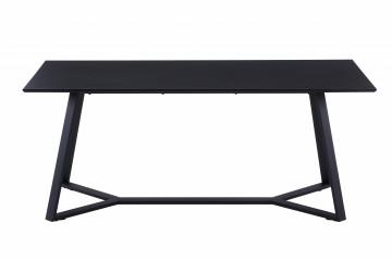 Masa dreptunghiulara cu blat din MDF 180x90x75 cm gri/negru