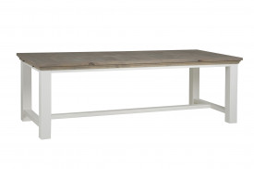 Masa dreptunghiulara din lemn 200x100x78 cm maro/alb