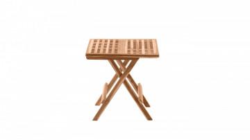 Masa pentru gradina patrata din lemn de tec pliabila 50x50x50 cm maro